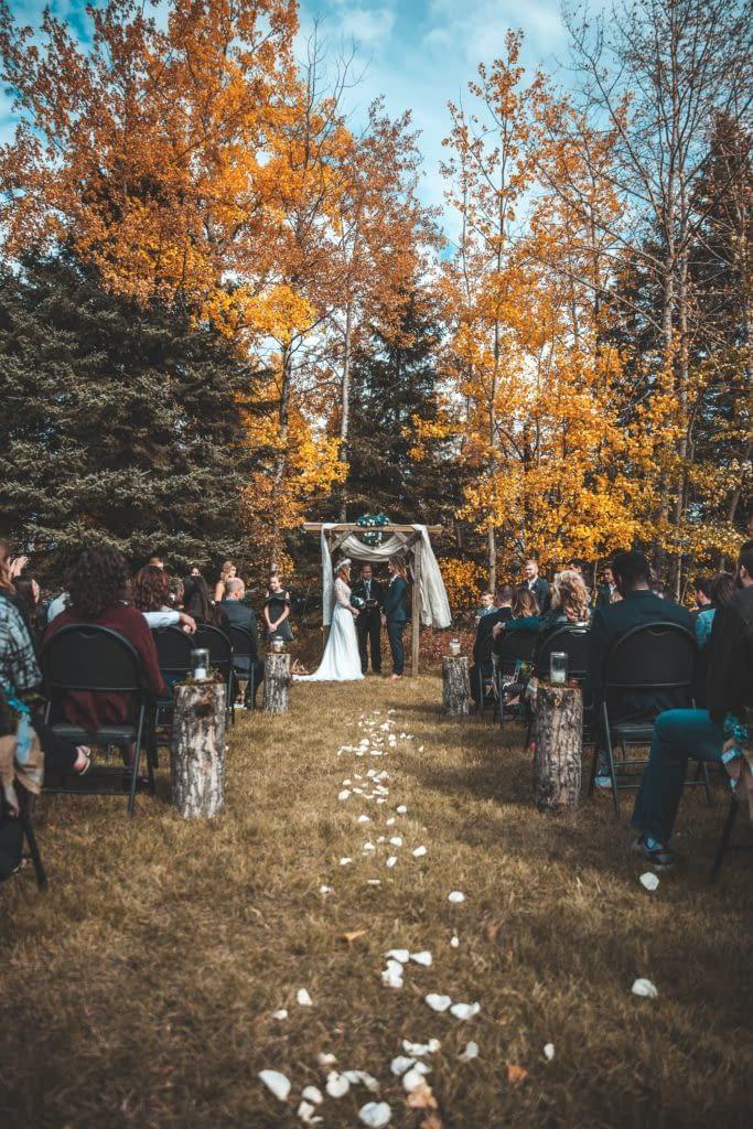 Boho svatba v přírodě